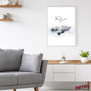 Poster Berge Feel Free Wohnzimmer